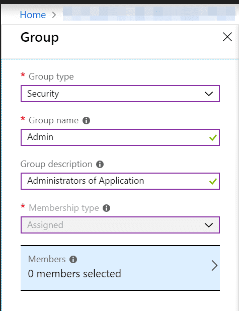 Azure AD Add Group