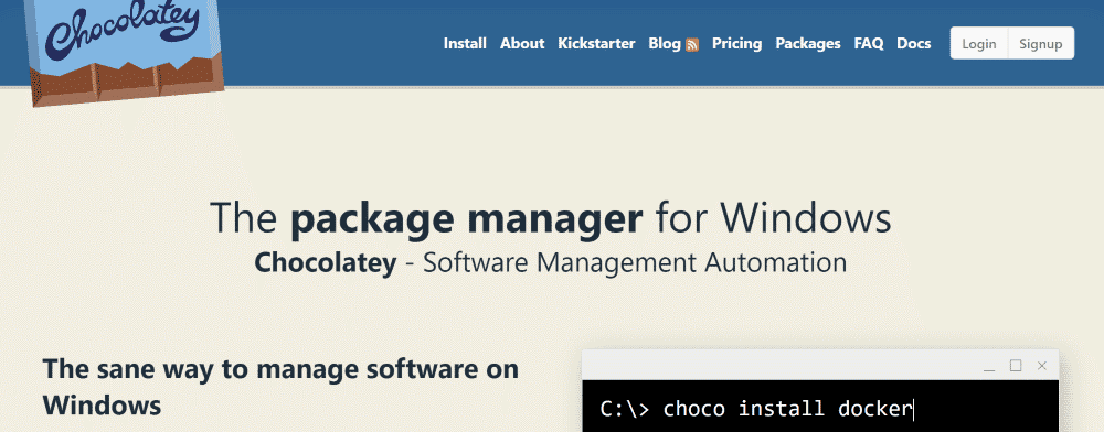 Chocolatey - Package Manager for Windows