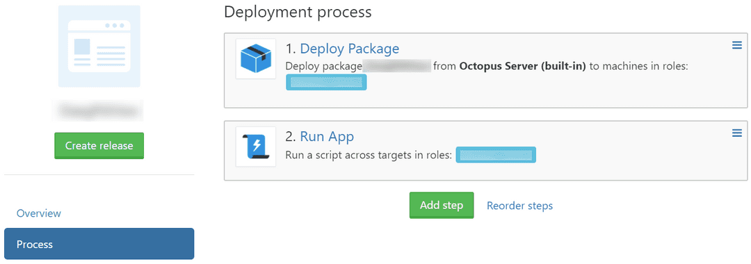 Octopus Deploy Process Steps