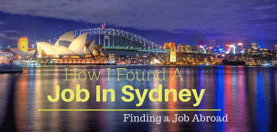 How I found a job in Sydney